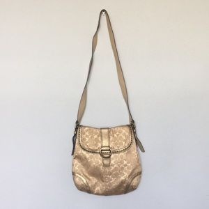Coach Gold Cross Body Bag